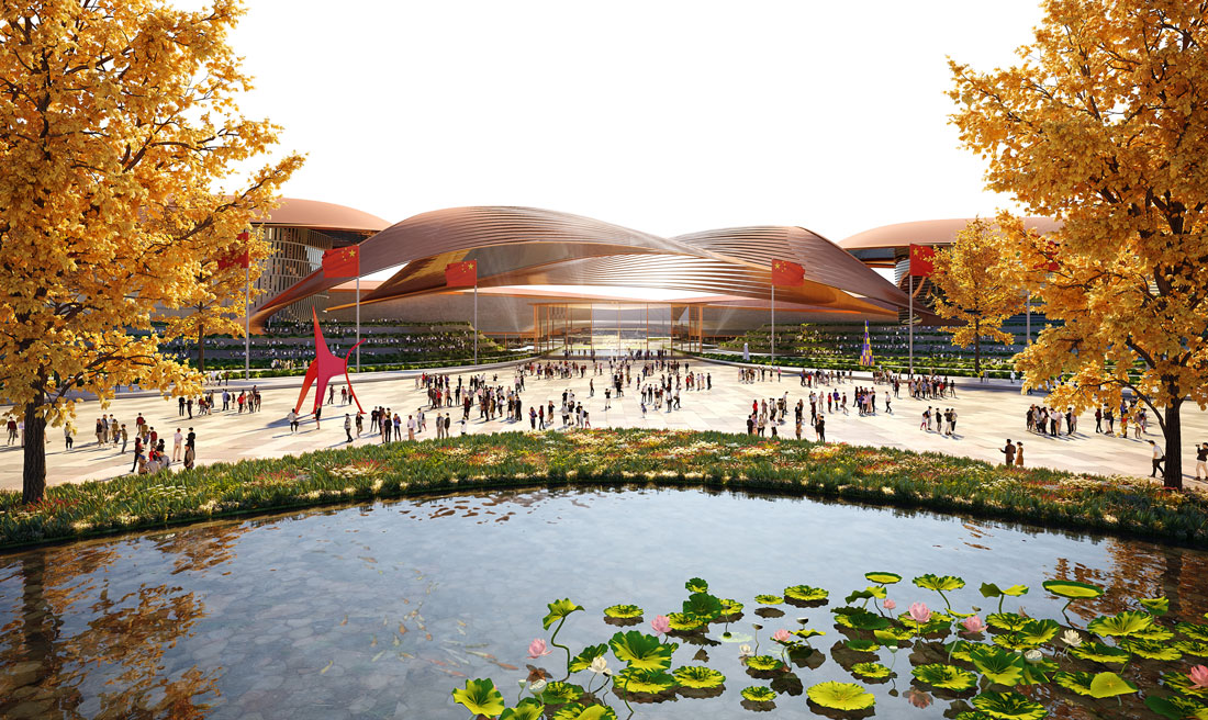 01_Beijing-New-International-Exhibition-Centre_Render-by-Atchain