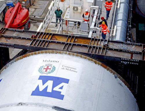 M4 Milano: posizionato il primo pezzo di treno