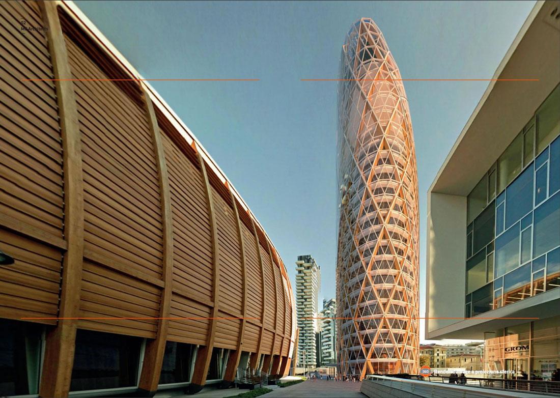 Una renderizzazione del Nido Verticale, la futuristica Torre UnipolSai