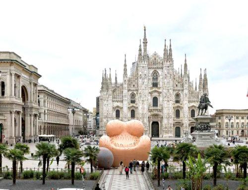 Da Gaetano Pesce in Piazza Duomo all'installazione d'Acqua di Marco Balich