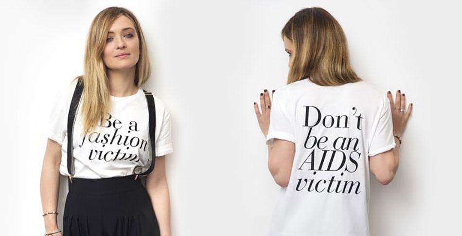 Una maglietta lanciata a Convivio 2016 per promuovere la campagna contro L'AIDS