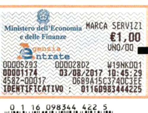 """Tasse ipotecarie e tributi speciali catastali: arriva la nuova """"marca servizi"""""""