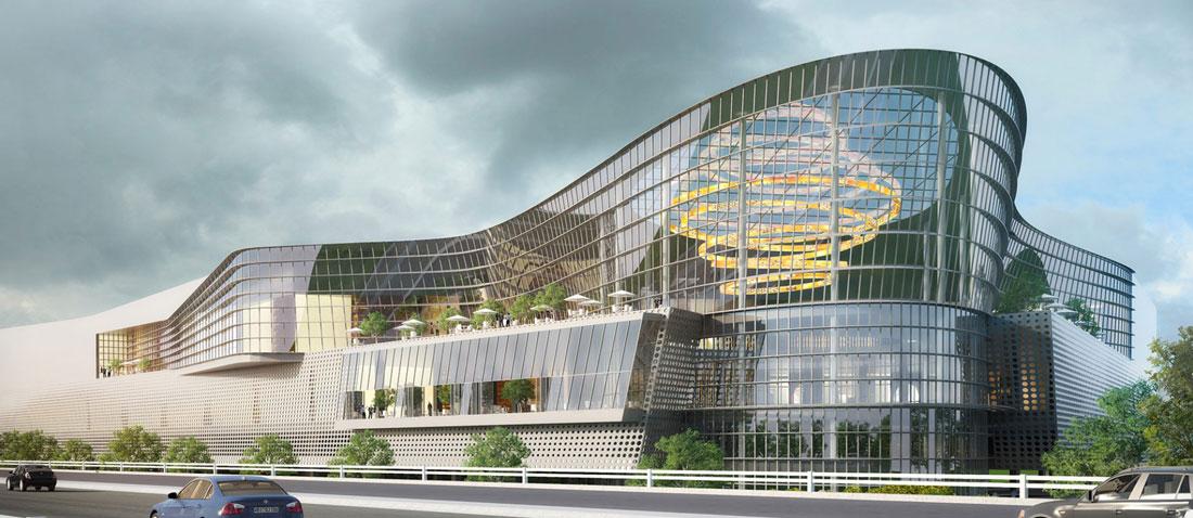 Una vista prospettica del futuro centro commerciale a Cascina Merlata