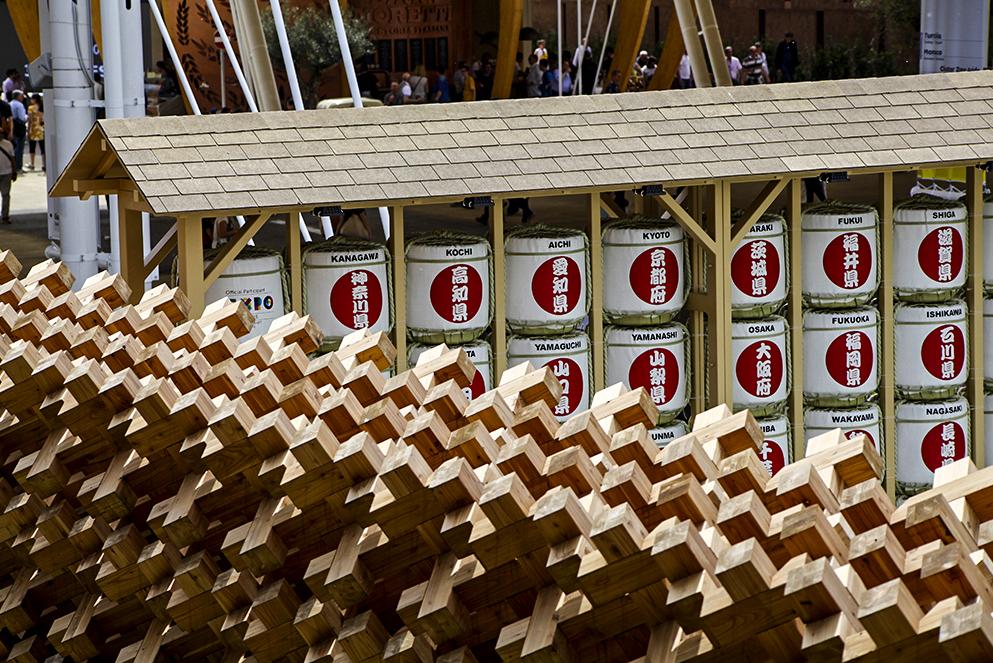 Giappone padiglione legno expo 2015