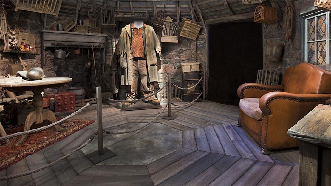 E un set ricostruito della casa del gigante buono Hagrid