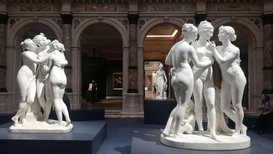 Una foto della mostra all'interno delle Gallerie d'Italia
