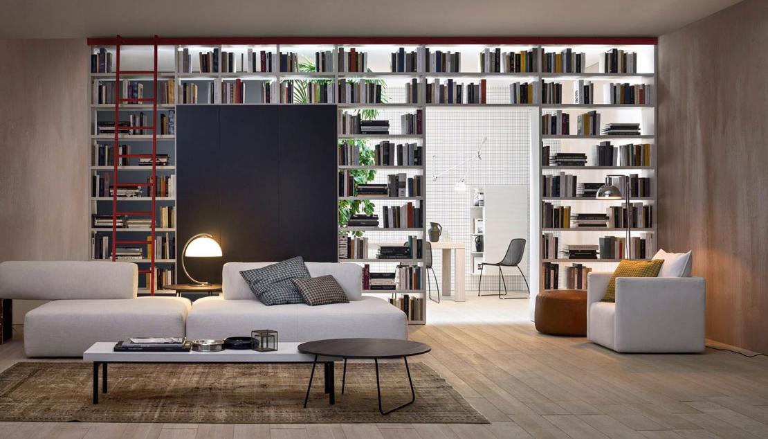Librerie filtro al posto di muri per separare gli ambienti di casa ...