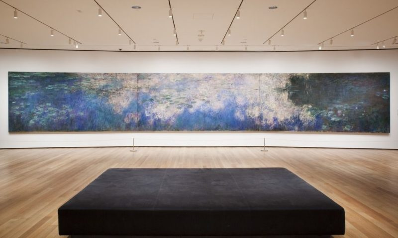 "Installation view of the exhibition, ""Monet's Water Lilies"""