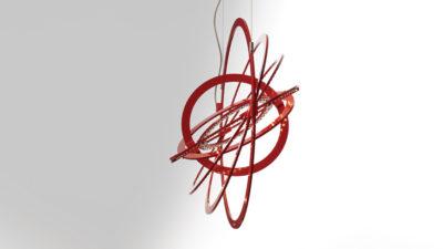 Lampada sospensione Artemide - serie Copernico - Rosso