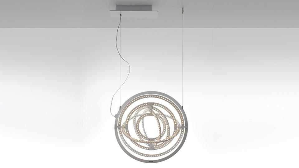 Lampada sospensione Artemide - serie Copernico - bianco