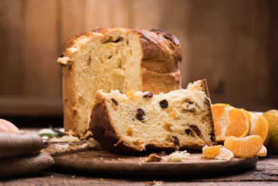 89663628 - italian christmas cake. home made panettone