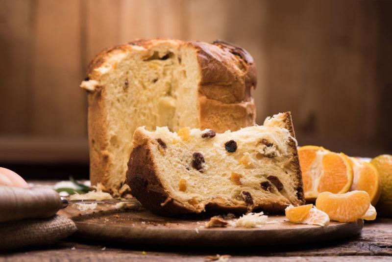 89663628 - italian christmas cake. home made panettone