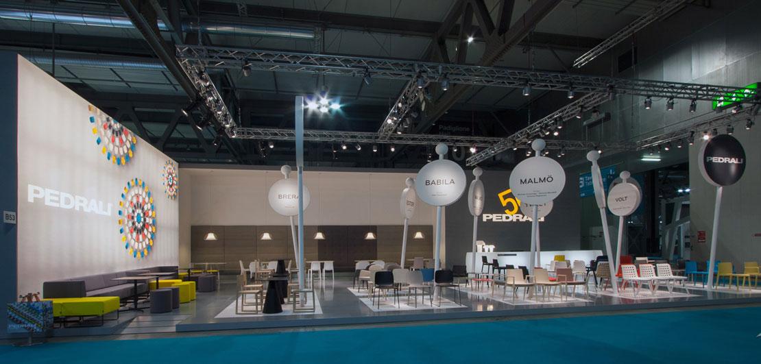 Lo stand di Pedrali a Host Milano edizione 2013