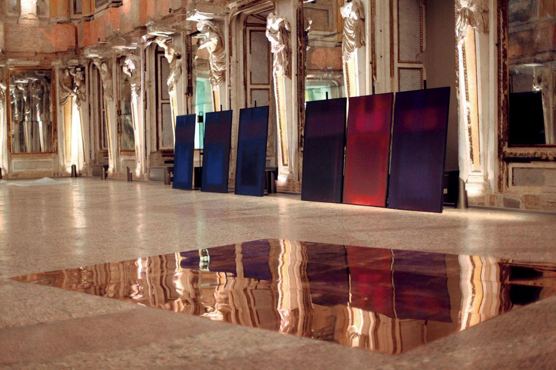 Roberto Ciaccio in esposizione nella Sala delle Cariatidi. Foto ©Davide Comelli
