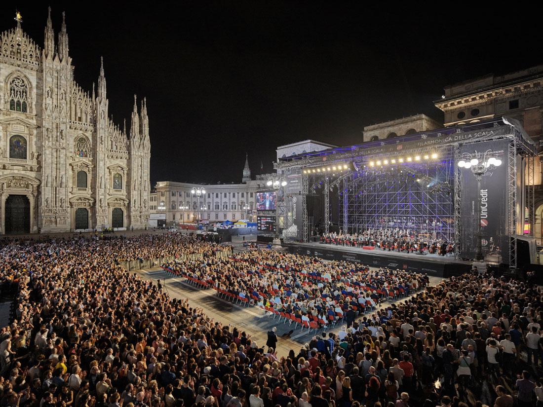 L'evento in Piazza Duomo fotografato nel 2019