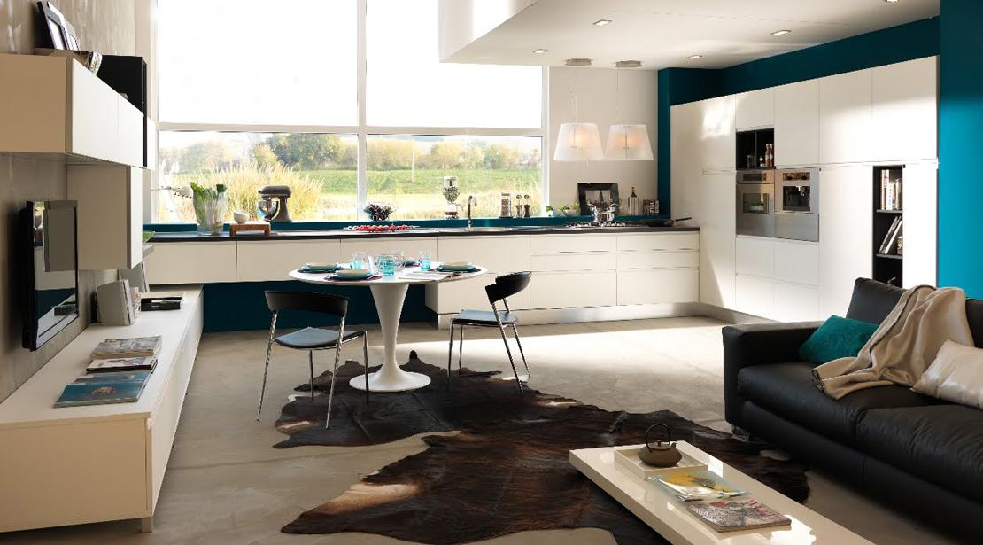 Cucina e soggiorno open space: spazi uniti per sfruttare lo spazio ...