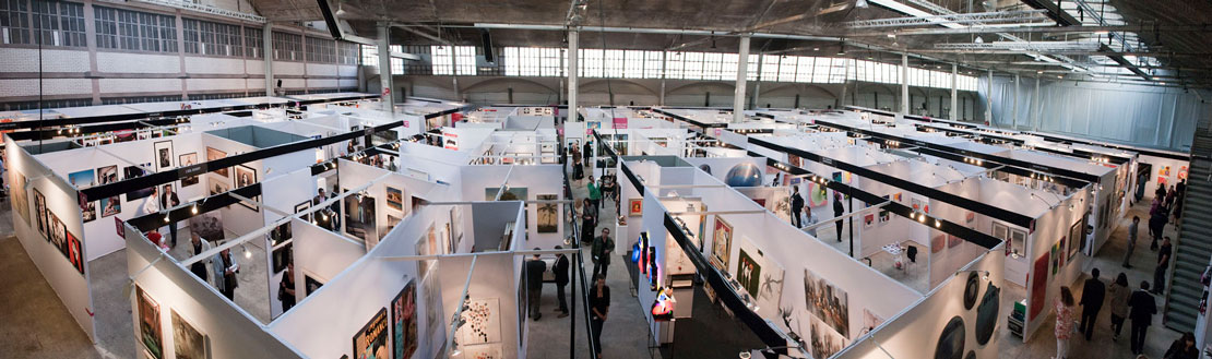 una panoramica dell'Affordable Art Fair