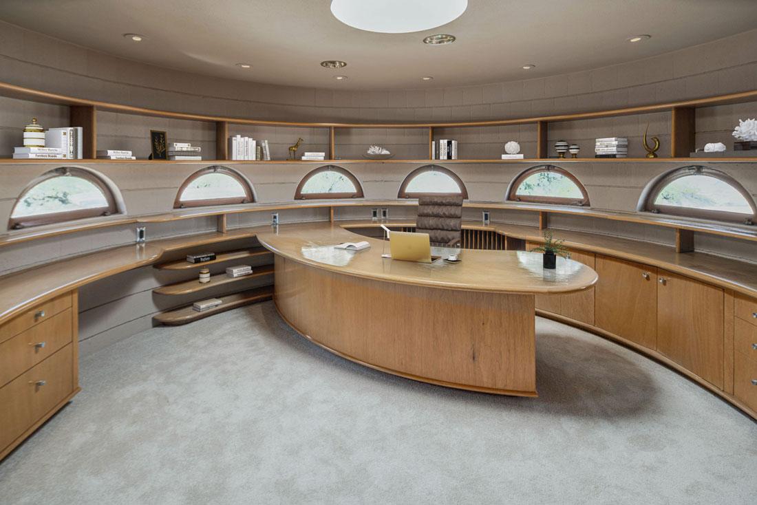 Uno degli uffici della villa, trasformabile in un'ulteriore camera da letto
