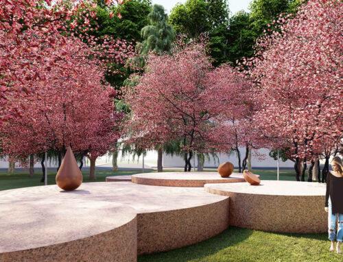 Piazza Piola: il giardino zen dedicato a Teresa Pomodoro
