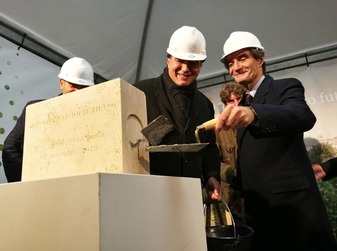 La posa della prima pietra avvenuta lo scorso 27 novembre