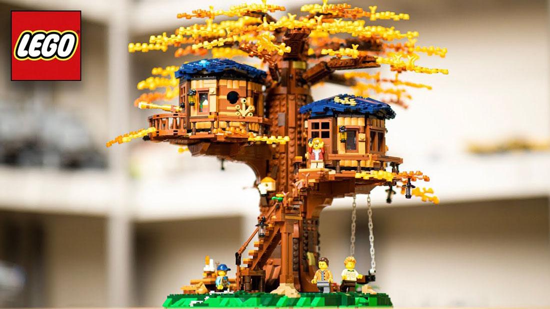 Uno dei kit con la casa sull'albero, che utilizza plastiche vegetali