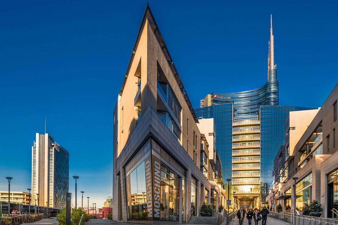 Una vista delle residenze di Corso Como progettate da Muñoz & Albin