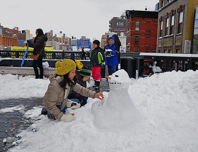 The High Line snow sculpt