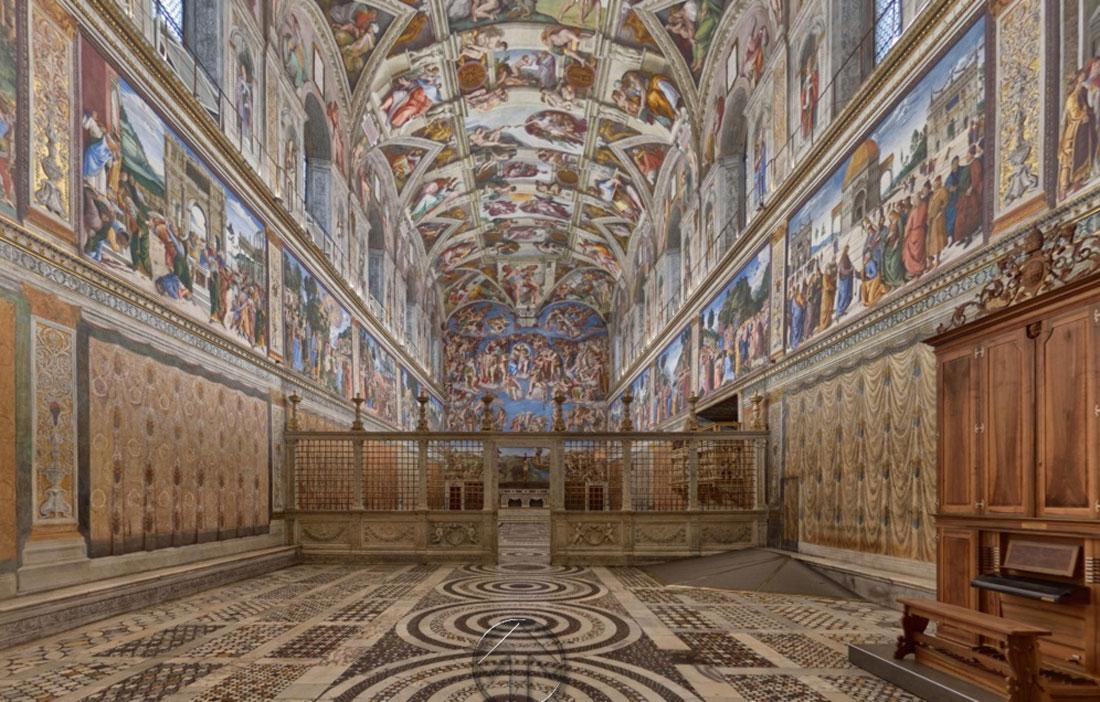 la Cappella Sistina visitabile con un click